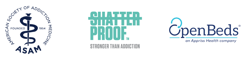 ASAM American Society of Addiction Medicine; Shatterproof Stronger Than Addiction; OpenBeds an Appriss Health company
