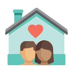 House and family icon